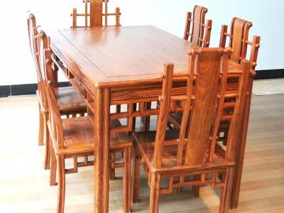红木餐台7件套