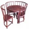 红酸枝圆形小茶桌